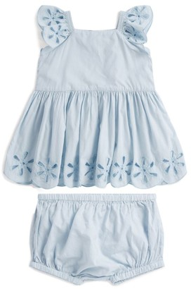 Stella McCartney Cotton Floral Eyelet Dress and Bloomers Set