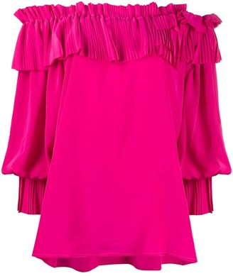 P.A.R.O.S.H. Ruffled Off-Shoulder Blouse