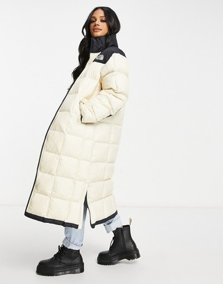 The North Face Lhotse duster jacket in cream