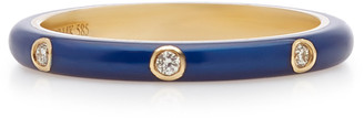 Ef Collection 14K Gold and Diamond Enamel Ring