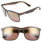 Ray-Ban Men's Wayfarer 58Mm Sunglasses - Matte Havana/brown Mirror Gold