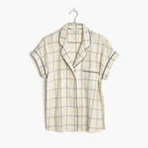 Madewell Flannel Bedtime Pajama Top in Windowpane
