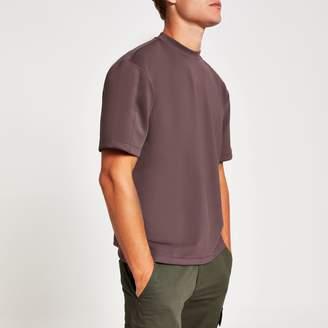 River Island Mens Purple scuba oversize fit T-shirt