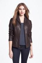 Cole Haan Women's Lambskin Leather Scuba Jacket