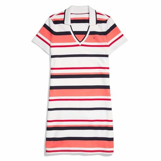 Tommy Hilfiger Women's Adaptive Polo Dress with Wide Neck Opening