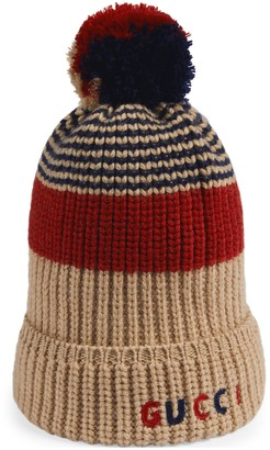 Gucci Children's wool hat with embroidery