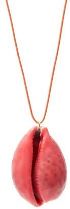 Aurélie Bidermann Merco Lacquered-shell Charm Necklace - Pink