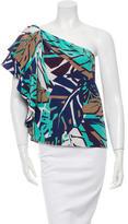 Gucci One-Shoulder Silk Blouse