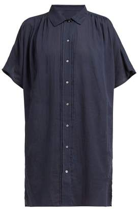 Loup Charmant Salento Buttoned Cotton Blouse - Womens - Navy