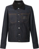 Givenchy contrast collar denim jacket