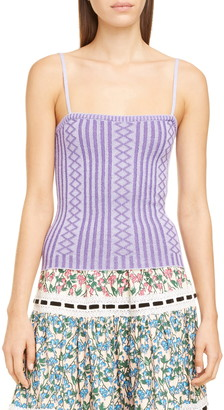 Marc Jacobs Rib Knit Wool Blend Cami