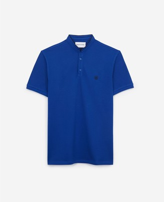 The Kooples SLIM blue polo with officer collar