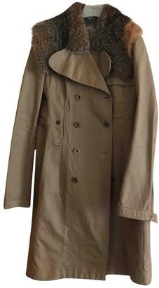 Miu Miu Beige Cotton Coat for Women Vintage
