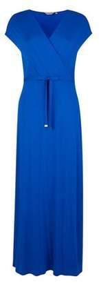 Dorothy Perkins Womens Petite Cobalt Wrap Maxi Dress