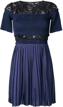 Three floor Paris Nights pleated and ruched dress