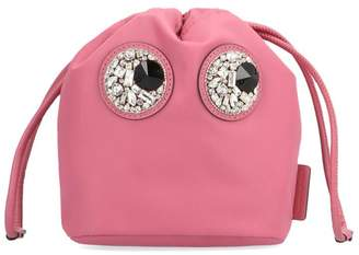 Anya Hindmarch Embellished Eyes Clutch Bag