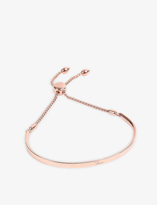 Monica Vinader Fiji 18ct rose gold-plated chain bracelet