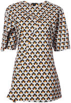 Marni patterned crossover blouse