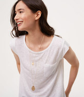 LOFT Hammered Layered Necklace