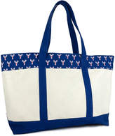Magid Women's Totebags NATURAL - Natural & Blue Lobster-Trim Tote