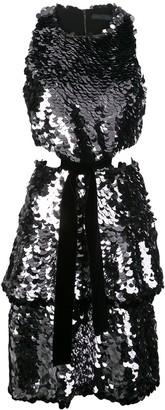 Proenza Schouler Sequinned Cut-Out Dress
