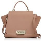 Zac Posen Eartha Soft Floral Strap Leather Shoulder Bag