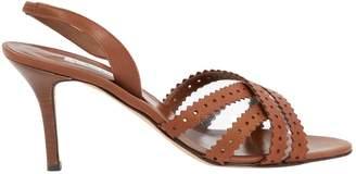 Oscar de la Renta Brown Leather Sandals