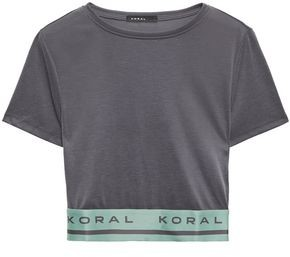 Koral Cropped Modal-blend Top