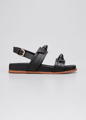 Alexandre Birman Clarita Leather Sport Sandals