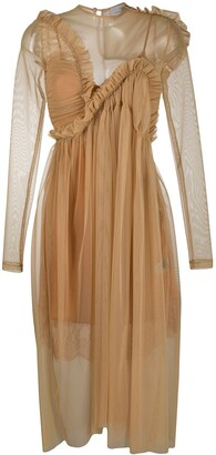 Preen by Thornton Bregazzi Ruffled Sheer Dress