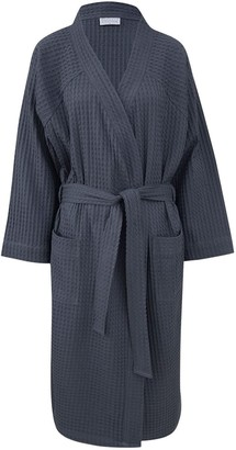 Wallace Cotton Clooney Waffle Robe Denim
