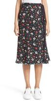 Marc Jacobs Women's Floral Silk Jacquard Wrap Skirt