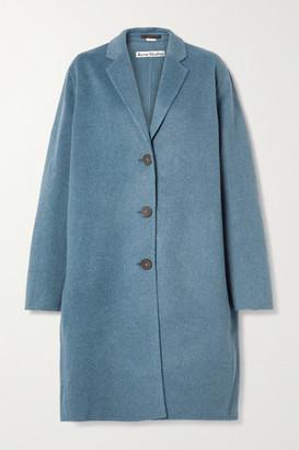 Acne Studios Oversized Melange Wool Coat - Blue