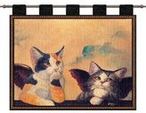 Dickens & Smyth Cherub Cats Wh-Wood Rod 1857-WH by pure country