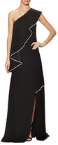 Vionnet Jersey Flutter One Shoulder Gown