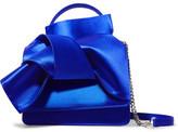 No.21 No. 21 - Knot Satin Shoulder Bag - Bright blue
