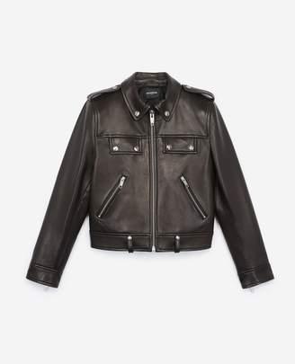 The Kooples Black biker jacket with zip pockets