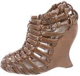 Bottega Veneta Woven Patent Leather Booties