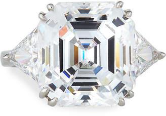 FANTASIA 14k White Gold Asscher & Trillion Cubic Zirconia Ring