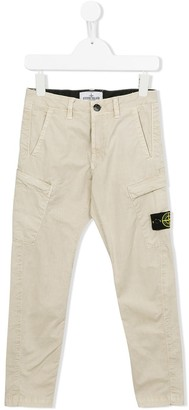 Stone Island Junior patch detail cargo trousers