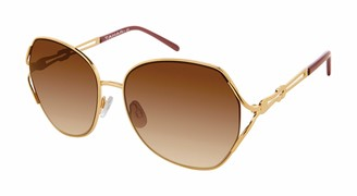 Tahari Women's TH756 Oval-Shaped Sunglasses with 100% UV Protection 60 mm
