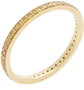 Ila Women's Blair 18K Yellow Gold & 0.36 Total Ct. Canary Diamond Eternity Band Ring