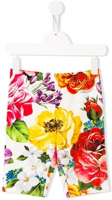 Dolce & Gabbana Floral-Print Legging Shorts
