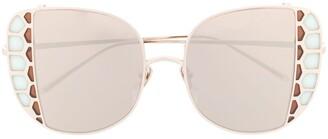 Linda Farrow Amelia oversized-frame sunglasses