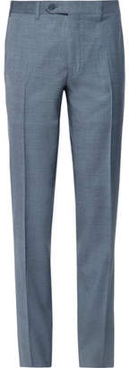 Canali Storm-Blue Slim-Fit Tapered Wool Suit Trousers