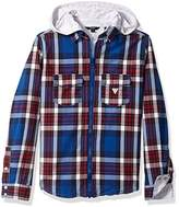 GUESS Boy's L73H04W8N40 Casual Shirt,(Manufacturer Size: 12)