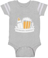 TeeStars Drinking Buddies Father's Day Gift Baby & Dad Cute Baby Jersey Bodysuit 6M