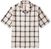Acne Studios Elm Camp-Collar Checked Cotton Shirt