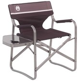 Coleman Folding Camping Chair Frame Color: Gray, Fabric Color: Brown