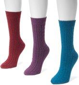 Muk Luks 3-pk. Women's Cable Boot Socks
